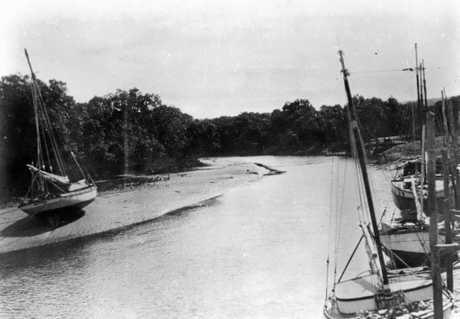 Sailing boats at Ross Cree, Yeppoon ca. 1930.