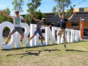 O-WEEK ENERGY: German students Rene Komnick, Alexandros Lignadis and Nico Meischke said they were hoping to see the fabled kangeroos lurking around USC's campus.