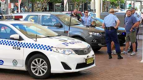CENTRE TROUBLE: Police were called to a confrontation on Harbour Dr in Coffs Harbour's city centre on Wednesday, February 22.