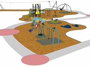 An artist's impression of the Lawrie hanson Park at Rainbow Beach.