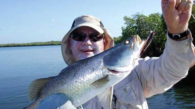 NICE BARRA: Gladstone man Craig Holt is hooked on fishing in Rockhampton, not so much in our region.