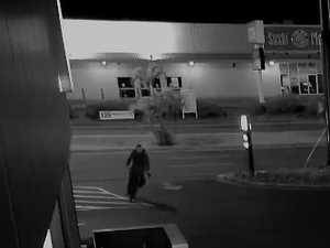 Employee chases gun-wielding robber with broomstick