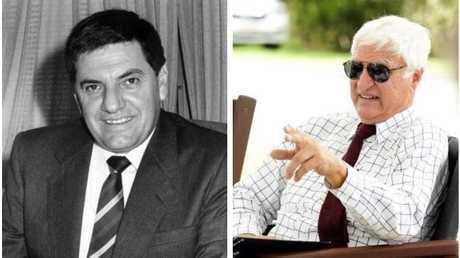 Angelo Vasta back in 1988, and right, Bob Katter.