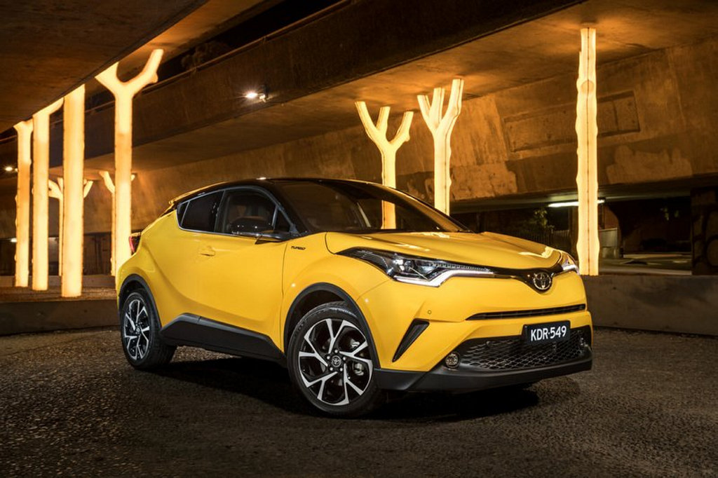 EDGY: The C-HR has been launched priced from $26,990, Toyota revealing a new style direction for its late but eagerly awaited entry to the crucial small SUV segment.