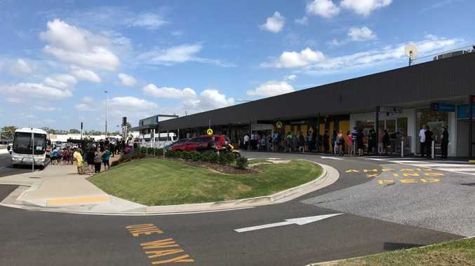 EVACUATE: Shoppers evacuated at Stockland.