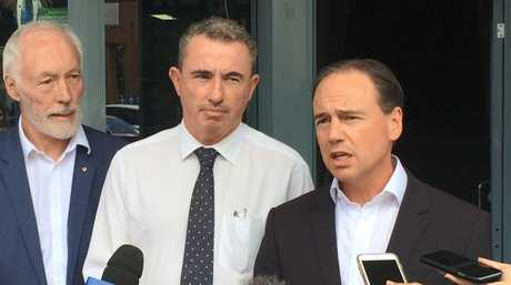 2010 Australian of the Year and Headspace Coffs Harbour chief Professor Patrick McGorry, Member for Page Kevin Hogan and Federal Minister for Health Greg Hunt announced new mental health services including a Headspace facility for Grafton on Thursday, 23rd February, 2017.