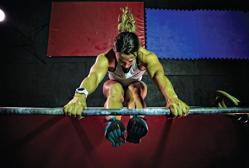 Kara Webb regularly pushes the pain barrier during her training.