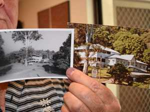 PICTURE PERFECT: Paul Stagg holds up pictures of Halse Lodge from 1929 and 1989.