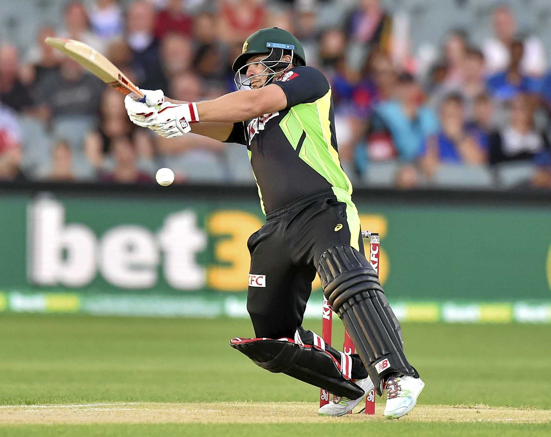 Aaron Finch hits out at the Adelaide Oval