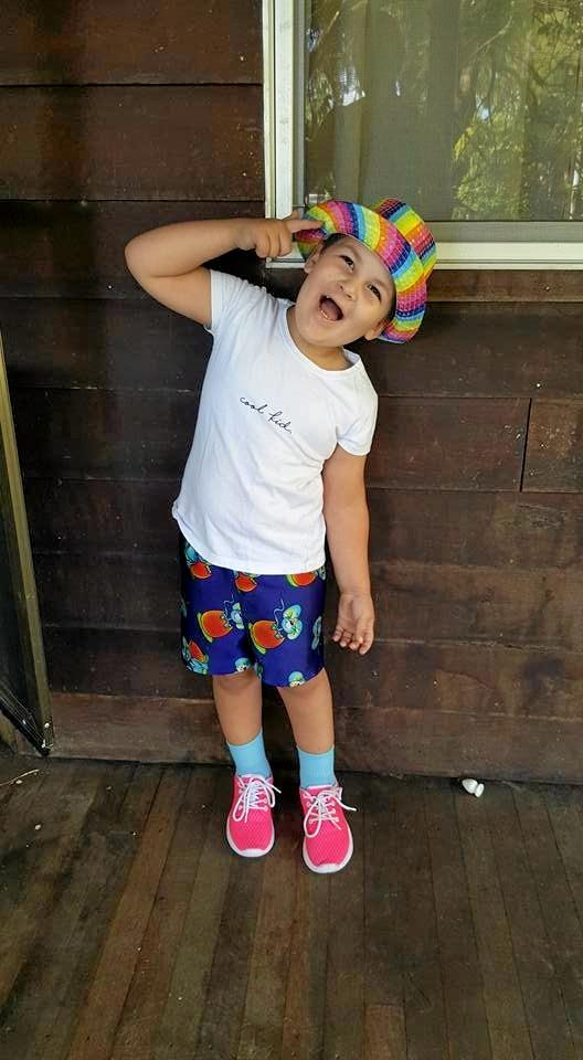 HAPPY CHAPPY: Four year old Travis Brooks has been diagnosed with uncontrollable epilepsy and global development delay and is still loving life.