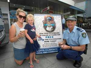 Cops share a coffee with Coffs locals
