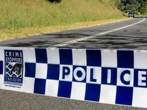 Car Crash on Tyalgum Rd. Man Died. Police on site.  Photo: John Gass  / Daily News