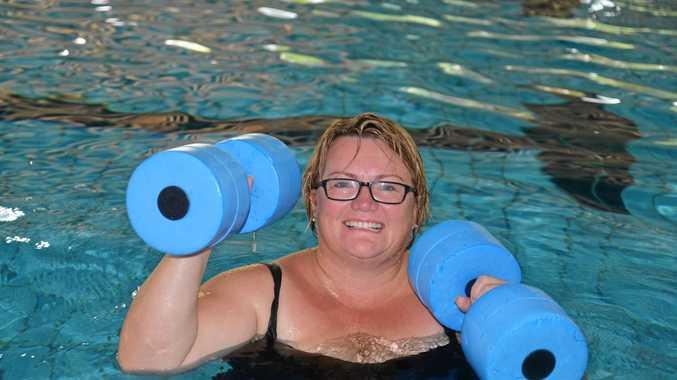 IN THE SWIM: Cynthia Hoffman gets fit with aqua aerobics at WIRAC.
