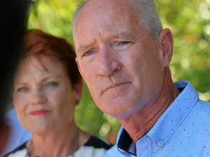 One Nation leader Pauline Hanson and state leader Steve Dickson.