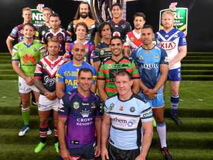 LEADERS: The 16 NRL captains at yesterday's season launch (from left) Daly Cherry-Evans (Manly), Jarrod Croker (Canberra), Matt Moylan (Penrith), Darius Boyd (Brisbane), Jake Friend (Sydney Roosters), Tim Mannah (Parramatta), Rory Kostjasyn (Newcastle), Aaron Woods (Wests Tigers), Cameron Smith (Melbourne), Johnathan Thurston (North Queensland), Roger Tuivasa-Sheck (NZ Warriors), Greg Inglis (South Sydney), Paul Gallen (Cronulla), Gareth Widdop (St George), Ryan James (Gold Coast) and James Graham (Canterbury).