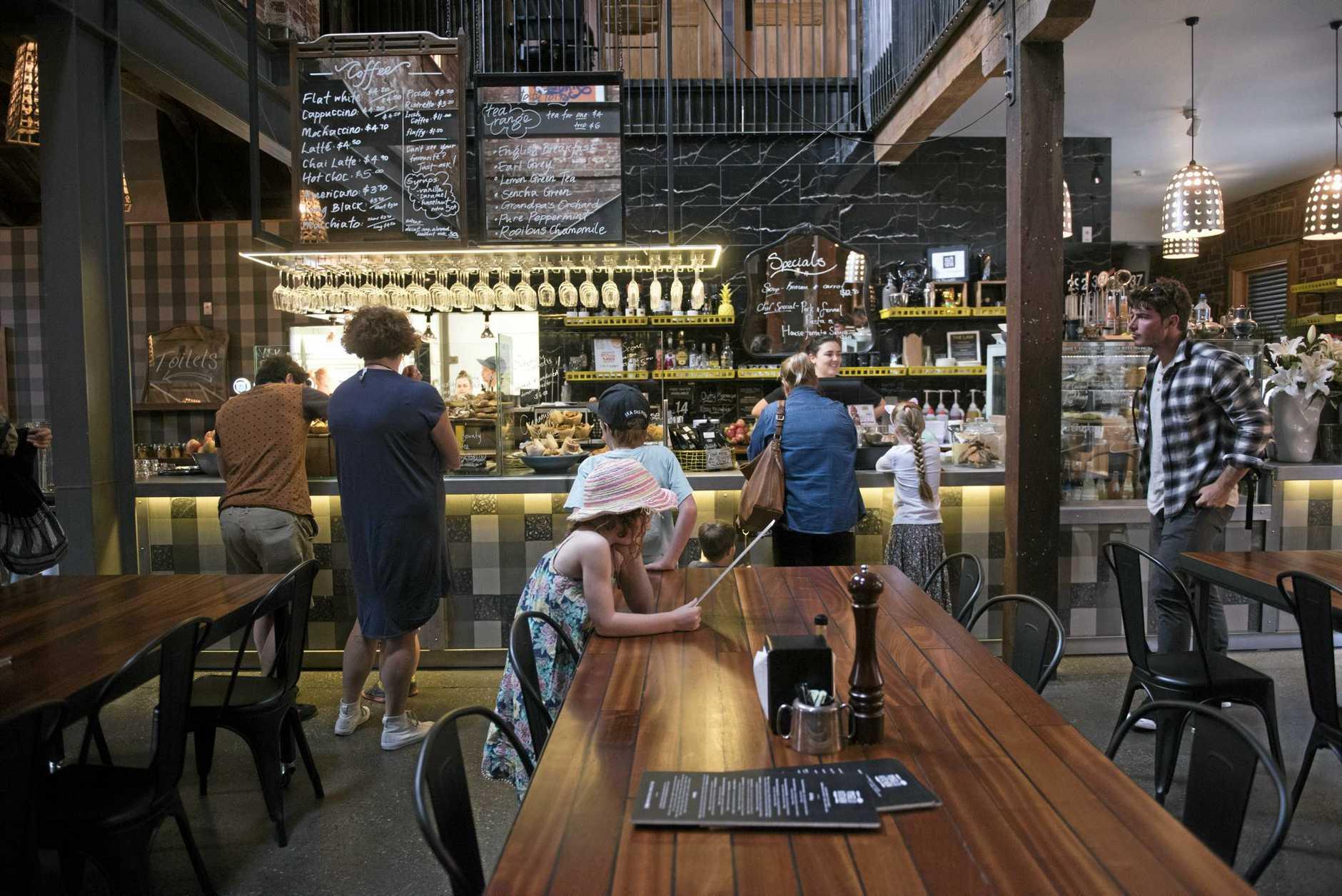 The inside of popular Dunedin cafe Vogel St Kitchen.