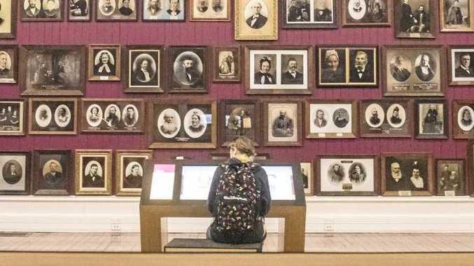 The portrait room of the Toitu Otago Settlers Museum in Dunedin.
