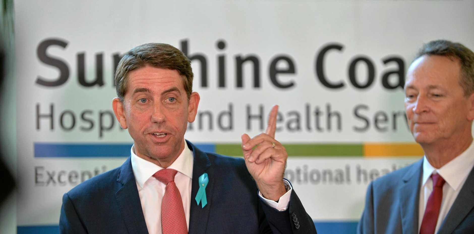 Minister for Health and Minister for Ambulance Services Cameron Dick (left).