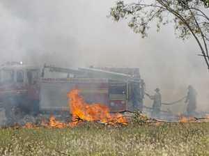 Firies called to paddock blaze
