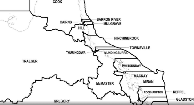 Proposed redistribution of Queensland's state electoral districts