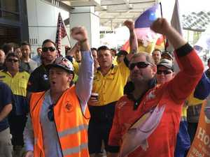 Unions take to streets as Sunday penalty rates cut