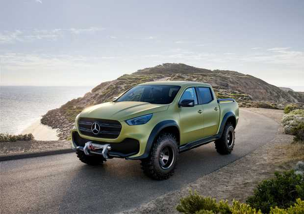 PREMIUM CHOICE: Mercedes' striking new 4x4 double cab ute, due to go on sale here in 2018, does some Australian off-road testing before hitting our showrooms.