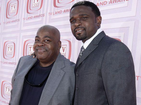 Reginald VelJohnson, left, and Darius McCrary arrive at the TV Land Awards on Sunday, April 19, 2009 in Universal City, Calif.