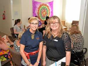 UNITED: Floresco Service Manager Melissa Horton and Dr Carolyn Perry host a mental health information session at the new Lockyer Valley Floresco.