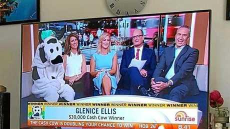 CASH COW: Andergrove woman Glenice Ellis won $30,000 from the Sunrise Cash Cow.