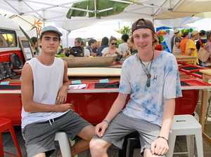 Friends Ryan Jones and Flynn Colby from Sydney enjoyed SCUs Orientation week at Lismore campus.
