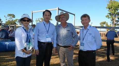 Caption for Fitzroy Vale Station Photo: Ms. Jiang Jiqing, Consul and Chief of Economic and Commercial Office, Dr. Zhao Yongchen, Consul General of the People's Republic of China in Brisbane, Alan Acton, owner of Fitzroy Vale Station, Lee Sunderland, Rockhampton Regional Council.   Photo: Contributed