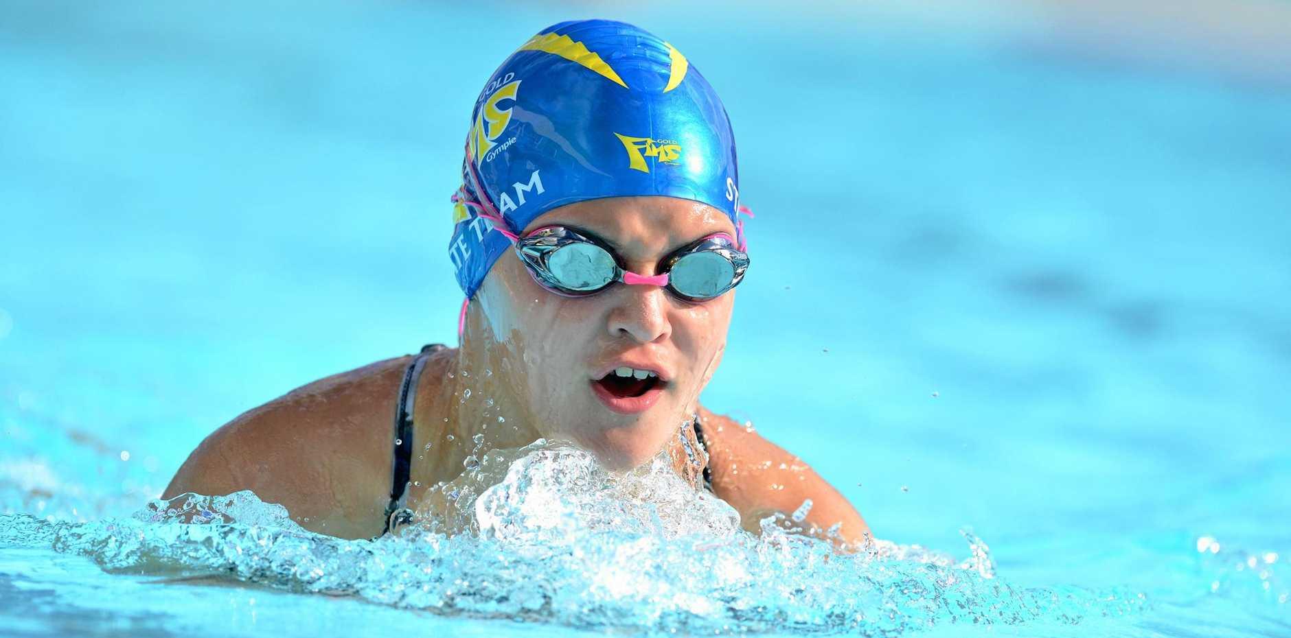 Gympie's Jasmin White Queensland under 11 freestyle champion.