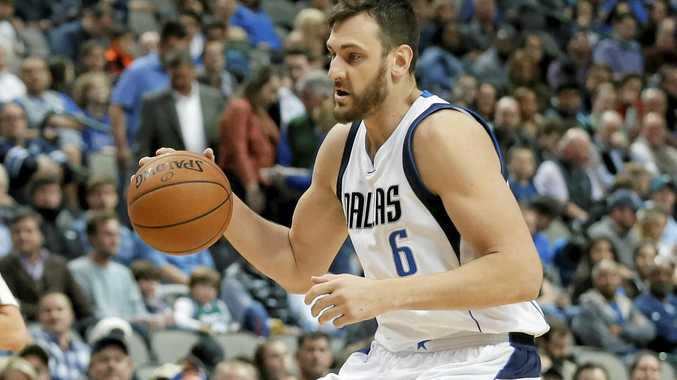 NEW HOME: Andrew Bogut has been traded from Dallas to Philadelphia.