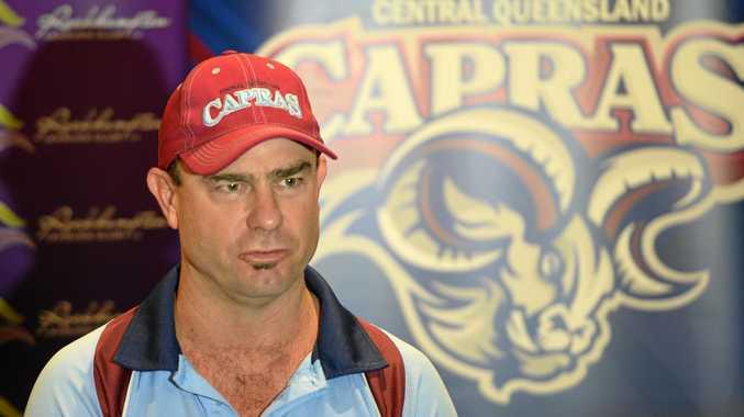 BOSS: CQ Capras coach Kim Williams has to trim four players from his Round 1 squad.