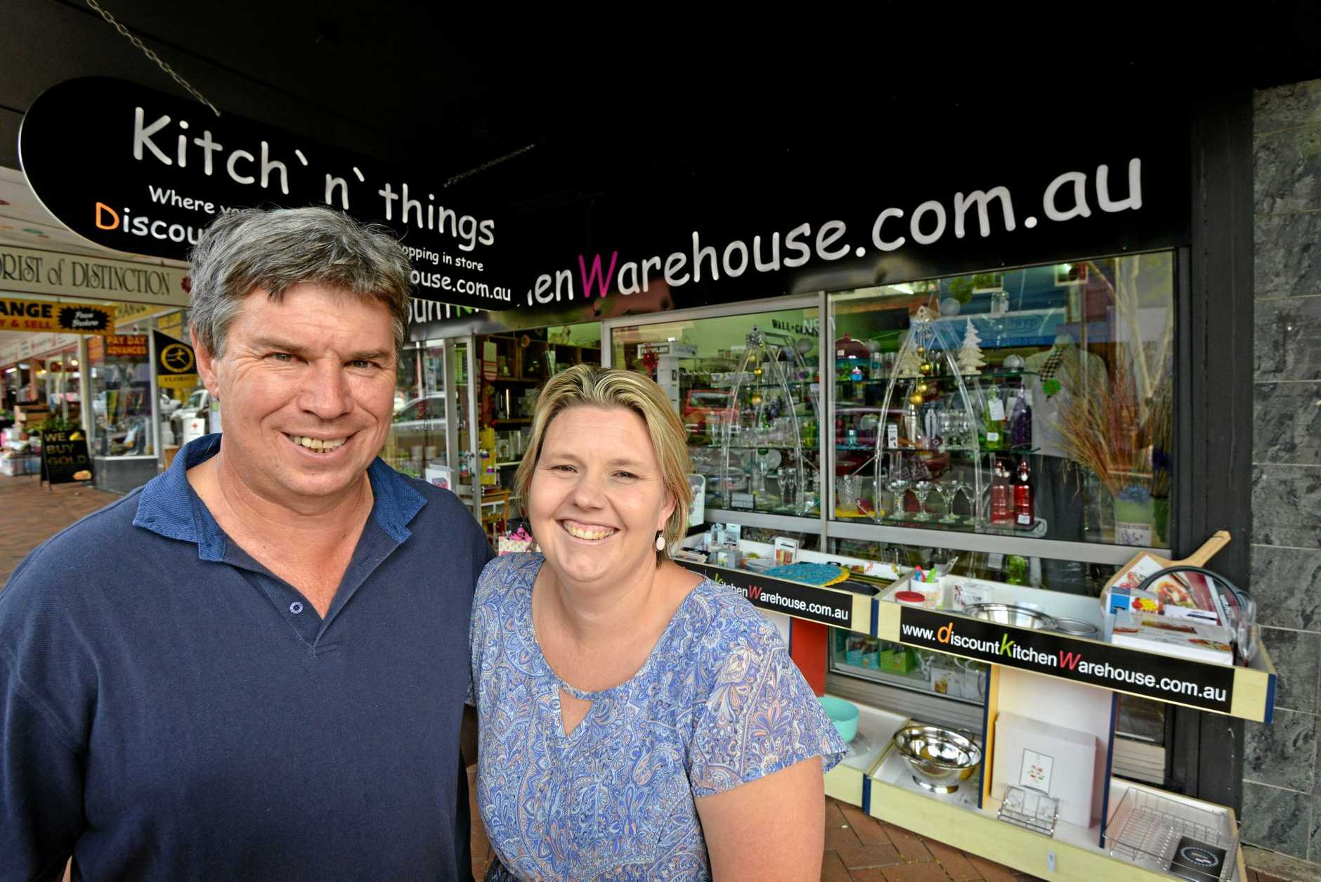 Business owners, Andrew and Elaine McIntosh of Kitch 'n' things, Mary Street, Gympie. Photo Patrick Woods / Gympie Times