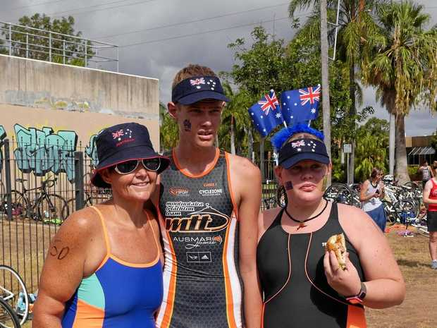 READY TO GO: Participants in last year's Biloela Bushrangers Australia Day triathlon.