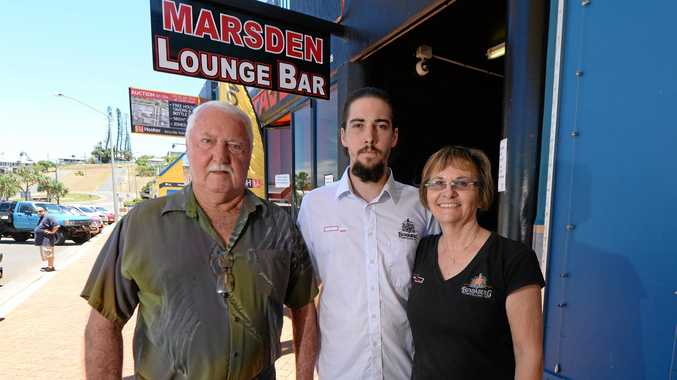 L-R Norm, Reilly and Margaret Marsden at the Marsden Tavern.   Photo: Chris Ison / The Morning Bulletin