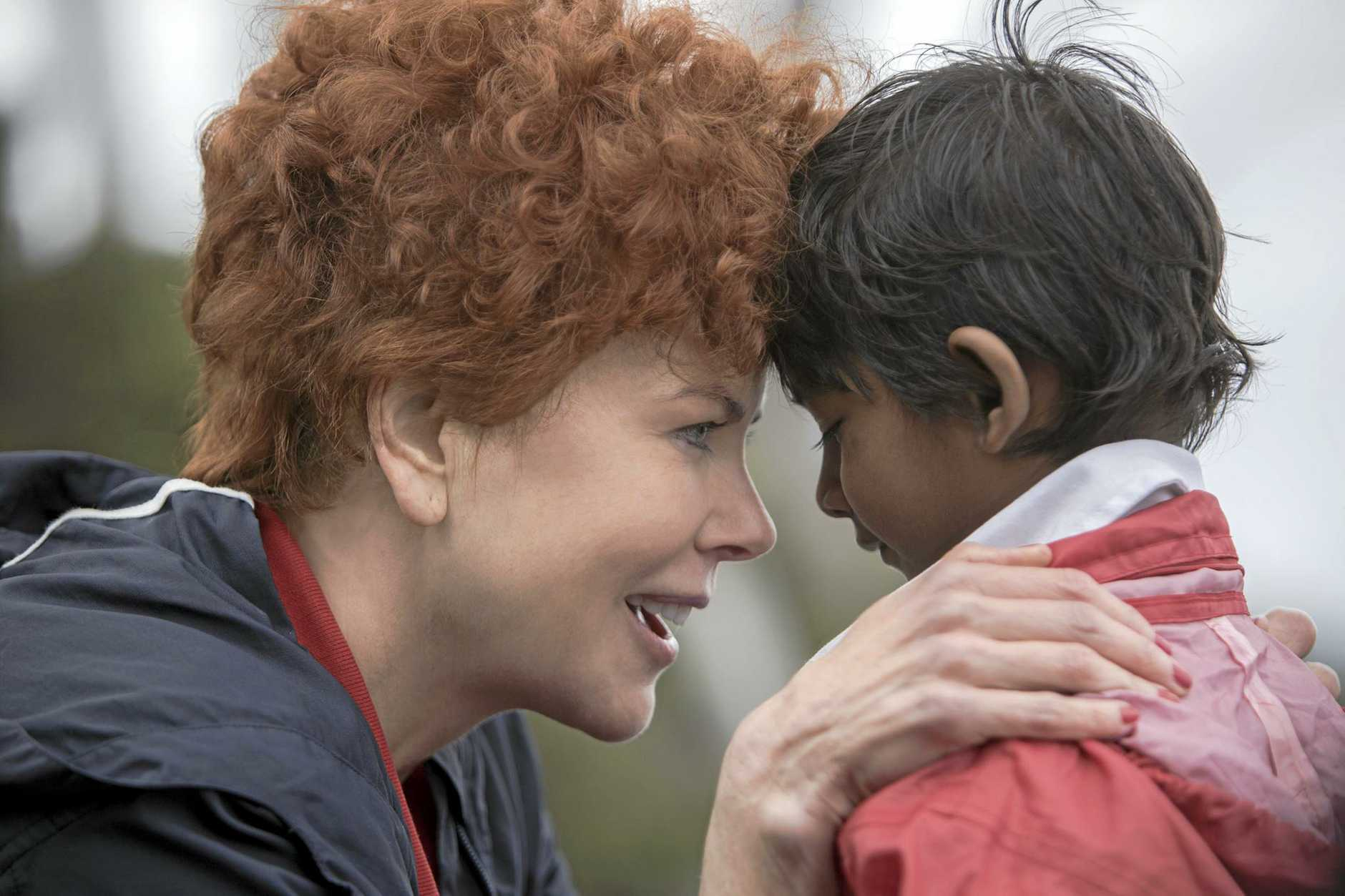 FOR REVIEW AND PREVIEW PURPOSES ONLY. Nicole Kidman and Sunny Pawar in a scene from the movie Lion. Supplied by Transmission Films.