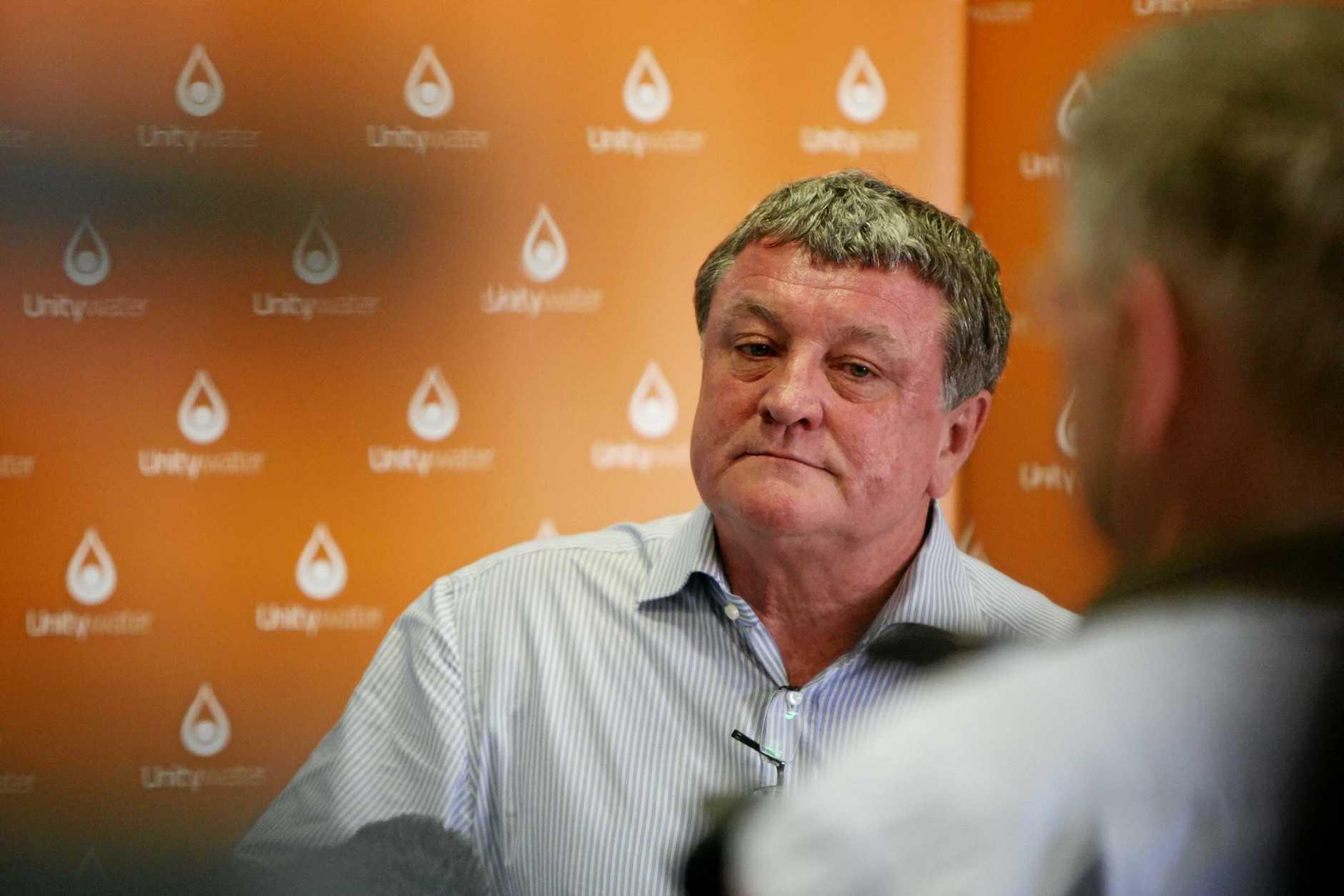 Unitywater chairman Jim Soorley.