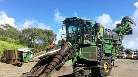 A 2011 John Deere harvester up for auction.