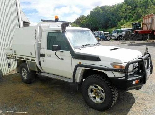 A Landcruiser up for auction on March 2.