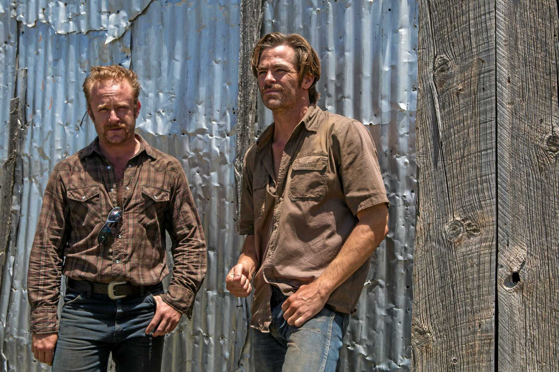 Ben Foster and Chris Pine in a scene from the movie Hell or High Water.