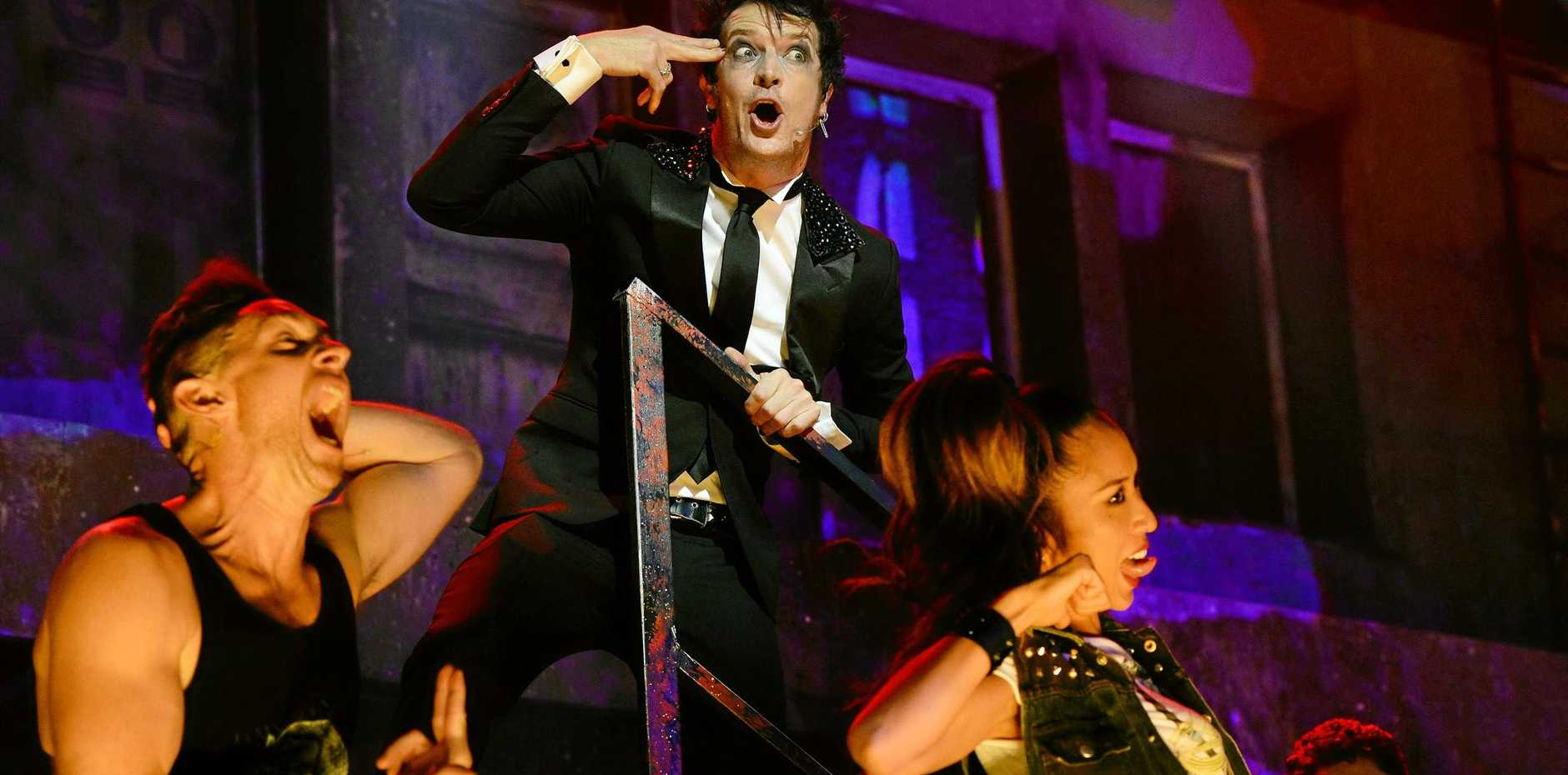 Chris Cheney of The Living End stars in the Australian production of Green Days musical American Idiot at Brisbane's QPAC Theatre.