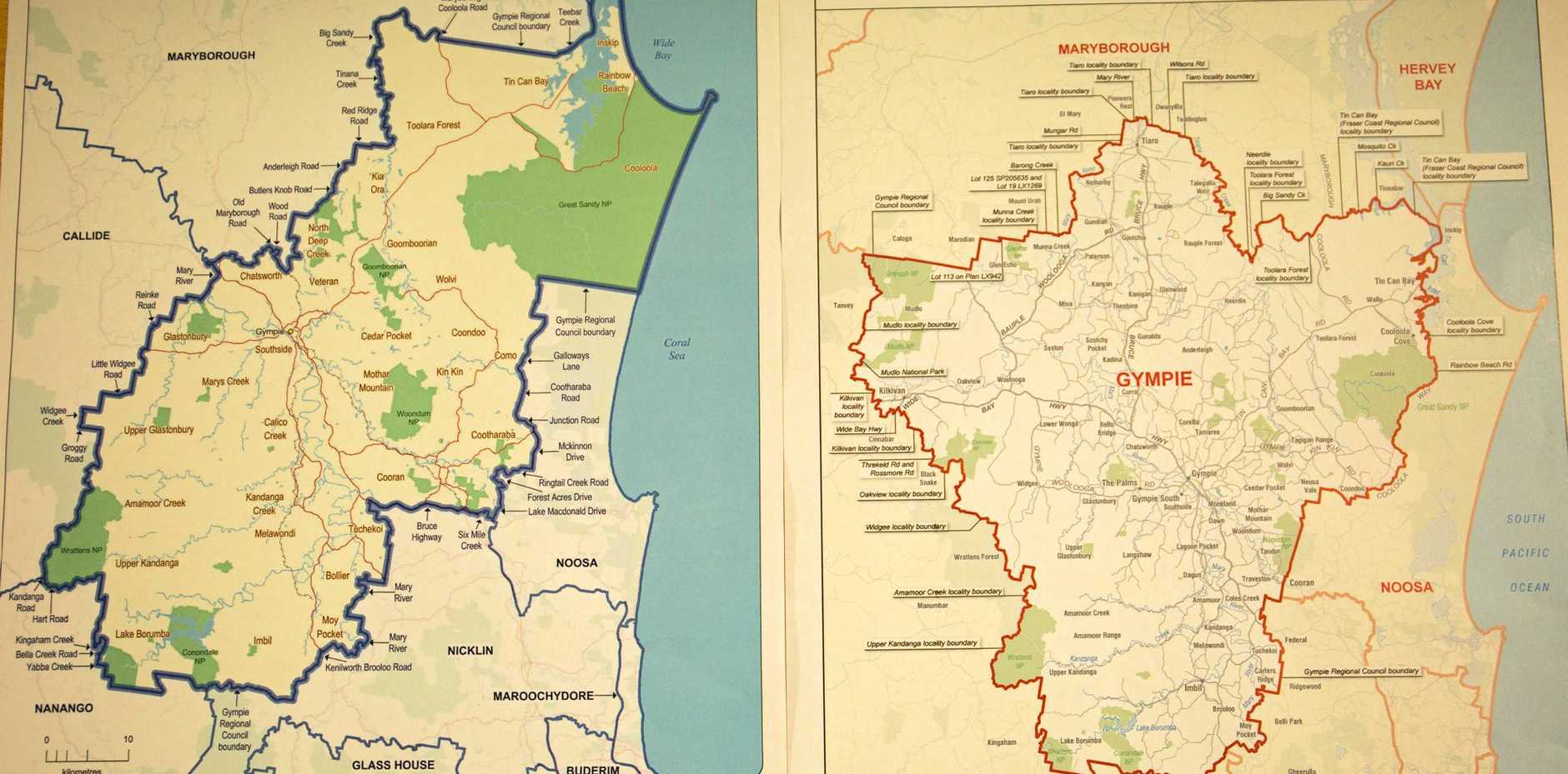 A VERY DIFFERENT LOOK: How the Gympie electorate looks under the proposed changes.