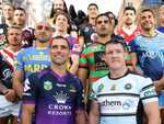 NRL Captains at the launch of the new season.