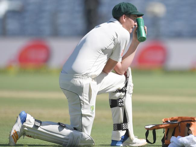 Renshaw wasn't feeling too crash hot.Source:AFP