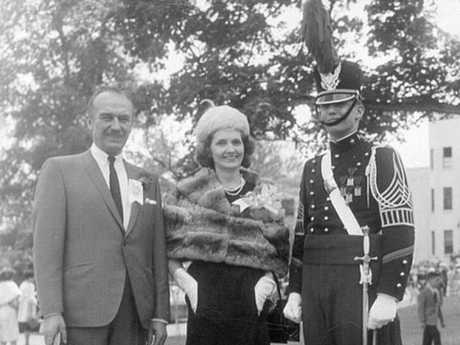 Donald Trump with his parents, Fred and Mary at the New York Military Academy. Picture: Donald Trump/Instagram