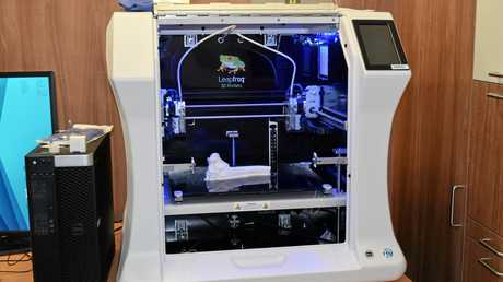 INNOVATION: The Mackay Base Hospitals new 3D Printer, being used to make real size replicas of complicated fractures and breaks.