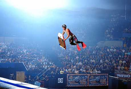 HIGH FLYING: Nitro Circus' daredevils will perform incredible choreographed riding routines when it visits the Beef City in April.
