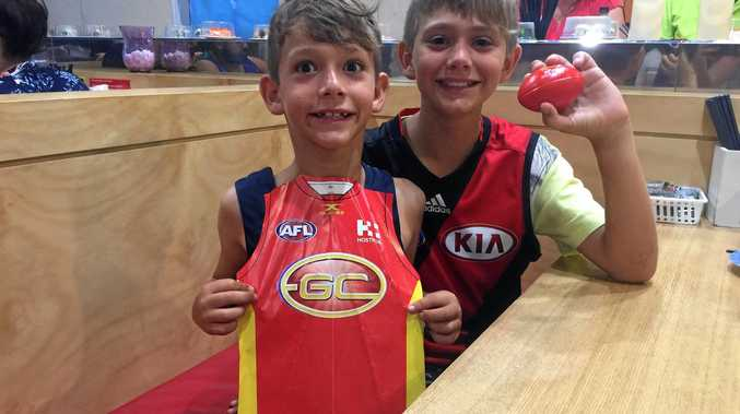 Bombers brothers, Lincoln and Campbell can't wait to see their first AFL game this weekend.
